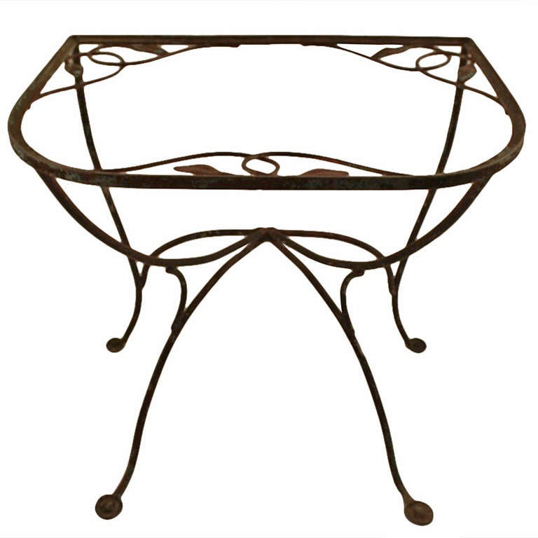 Salterini Demi-lune Console Wrought Iron Table