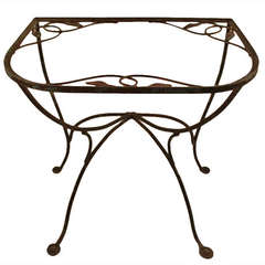 Salterini Demi-lune Console Wrought Iron Table