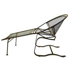 Cantilevered Hoop Chair with Footrest by Tempestini for Salterini