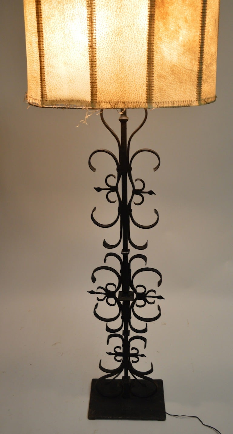 Wrought Iron Spanish Gothic Style Floor Lamp For Sale At
