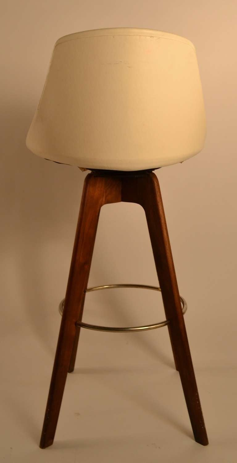 Four Counter Bar Swivel Stools At 1stdibs