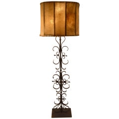 Wrought Iron Spanish Gothic Style Floor Lamp