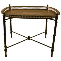 Classical Brass Tray-Top Table