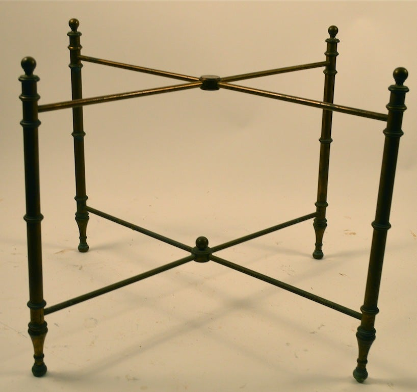 Mid-20th Century Classical Brass Tray-Top Table For Sale