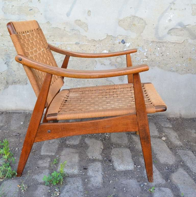 Pair of Mid Century Modern Arm Chairs Made in Yugoslavia 3