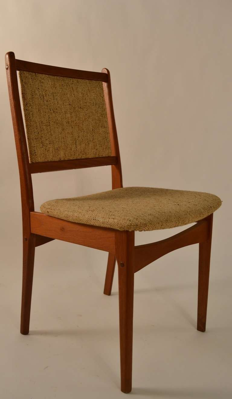 Danish Modern Set Of Six Teak Dining Chairs For Sale At