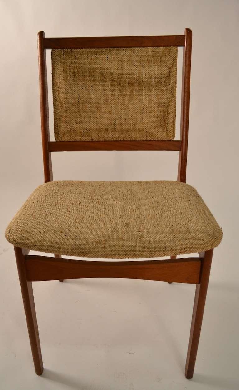 Danish modern set of six teak dining chairs for sale at for Danish modern dining chairs