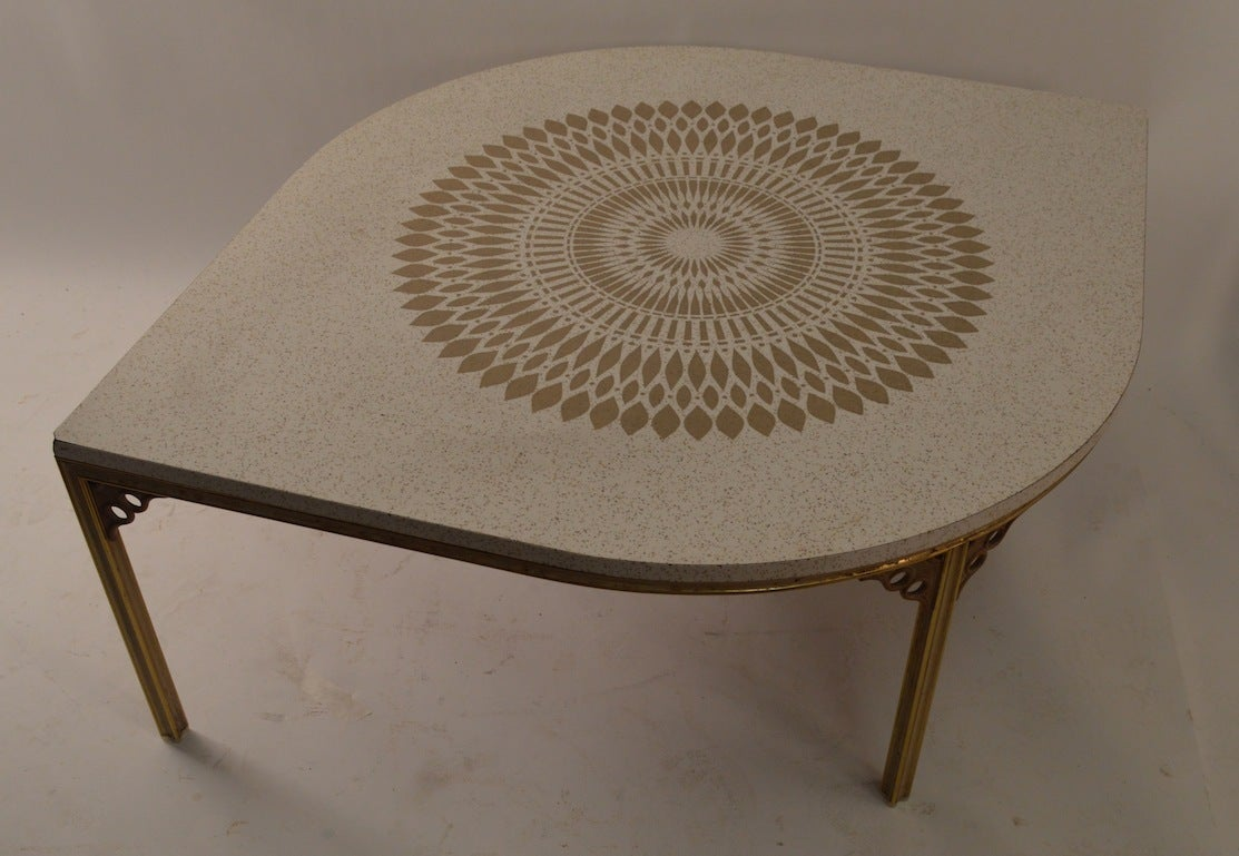 Eye Shaped Cymbal Coffee Cocktail Table By John Van Koert