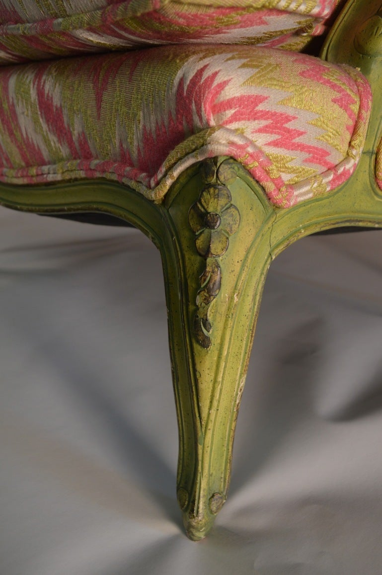 French Style Chair and a Half For Sale 3