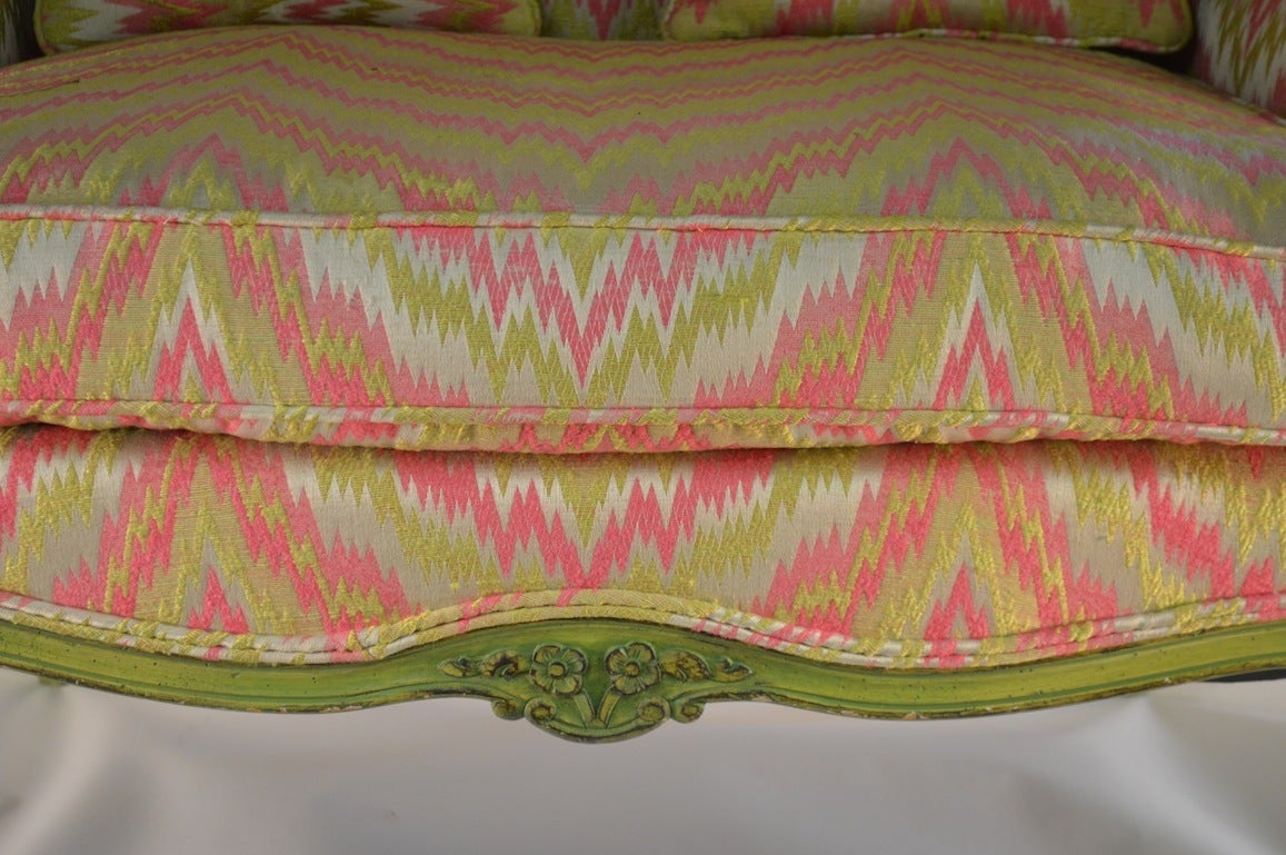 French Style Chair and a Half For Sale 2