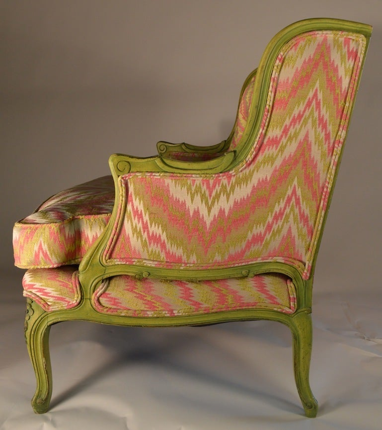 French Style Chair and a Half For Sale 1