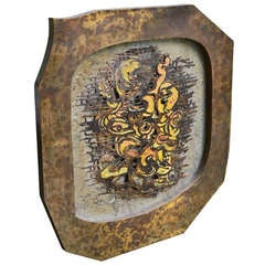 Kelvin and Philip Laverne Bronze Metal Abstract Wall Plaque