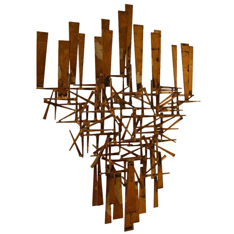 William Bowie Brutalist Nail Sculpture