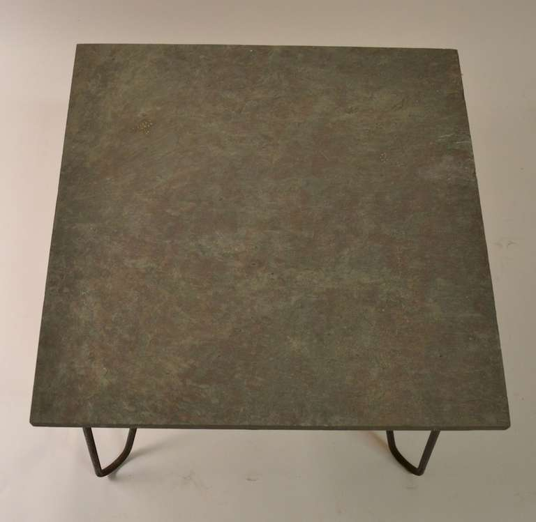 Slate And Iron Table After Royere At 1stdibs