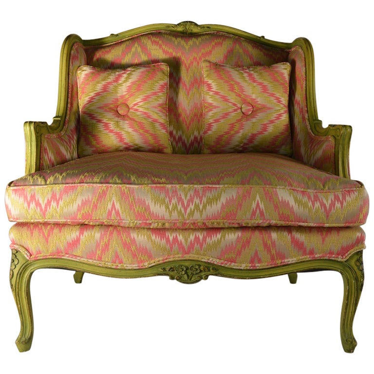 French Style Chair and a Half For Sale