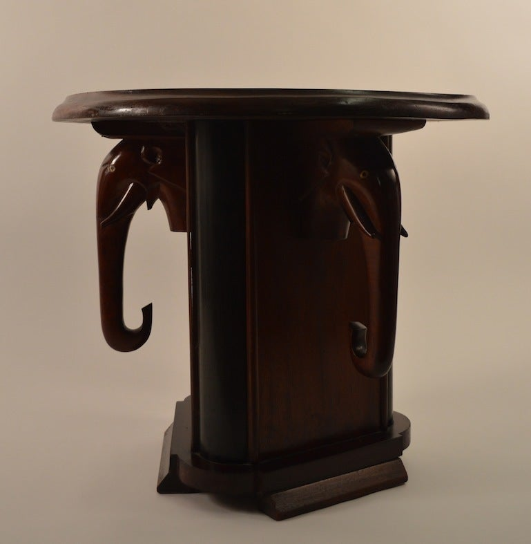 art deco elephant table for sale at 1stdibs. Black Bedroom Furniture Sets. Home Design Ideas