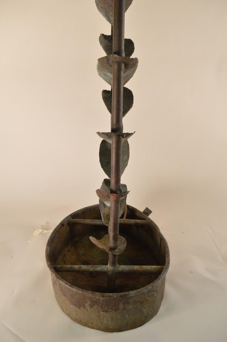 Copper Brutalist Fountain For Sale 4
