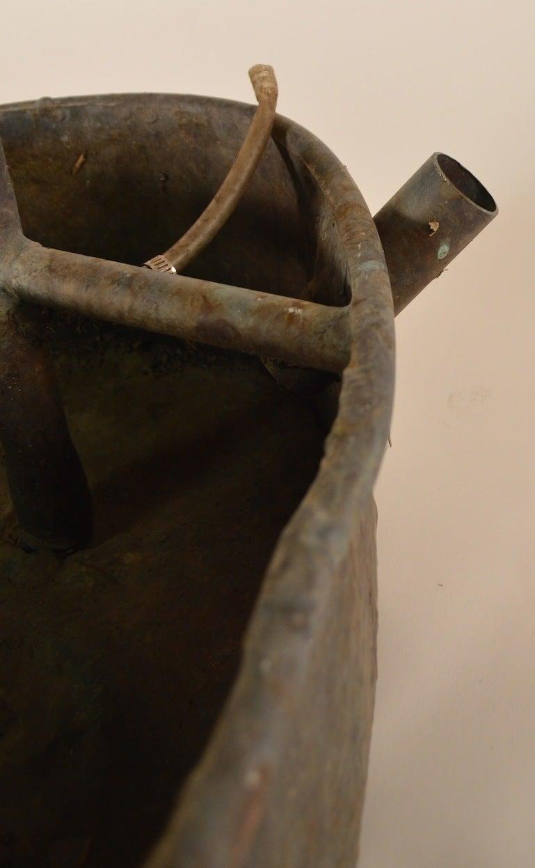 Late 20th Century Copper Brutalist Fountain For Sale