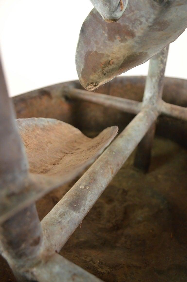 Copper Brutalist Fountain For Sale 1