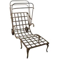 Molla Cast Aluminum and Magnesium Art Deco Chaise
