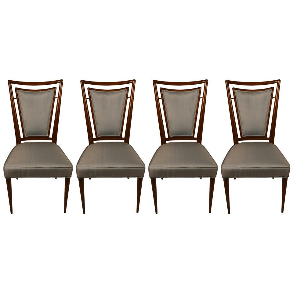 Four J. Stuart Clingman Dining Chairs