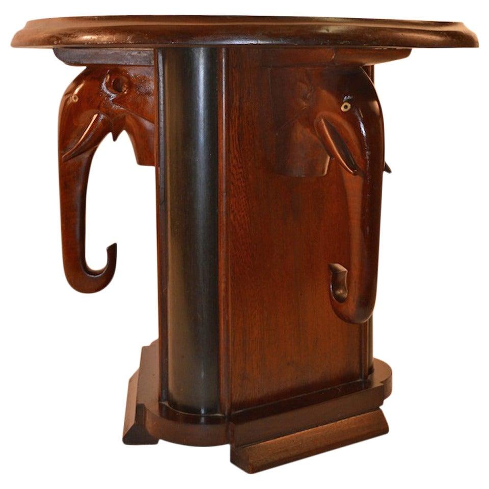 art deco elephant table at 1stdibs. Black Bedroom Furniture Sets. Home Design Ideas