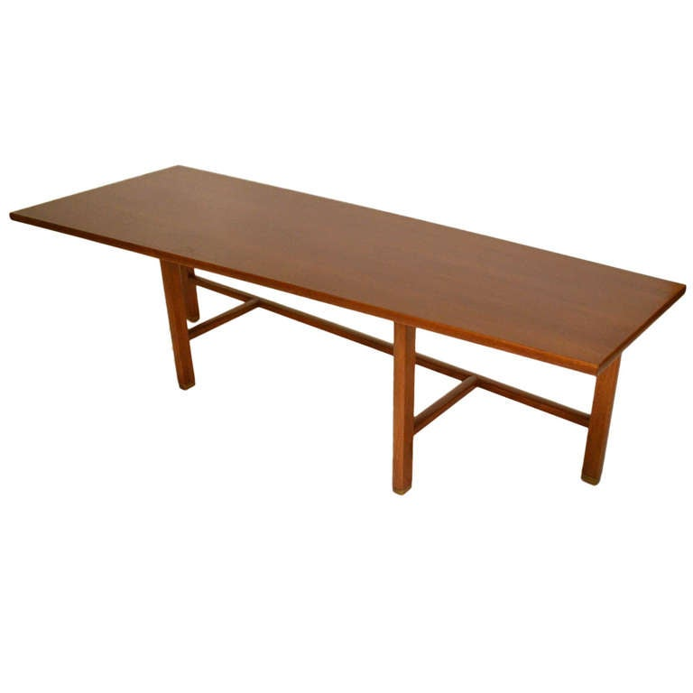 Trapezoid top wormley for dunbar coffee table for sale at for Trapezoid table
