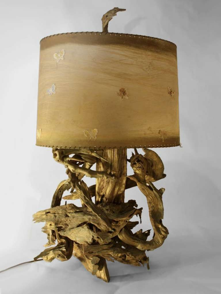 Driftwood Lighting Large Driftwood Table Lamp At 1stdibs