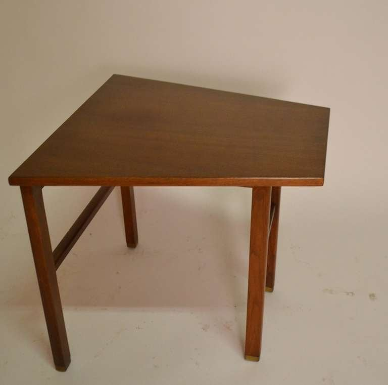 Trapezoidal dunbar end table by wormley at 1stdibs for Trapezoid table