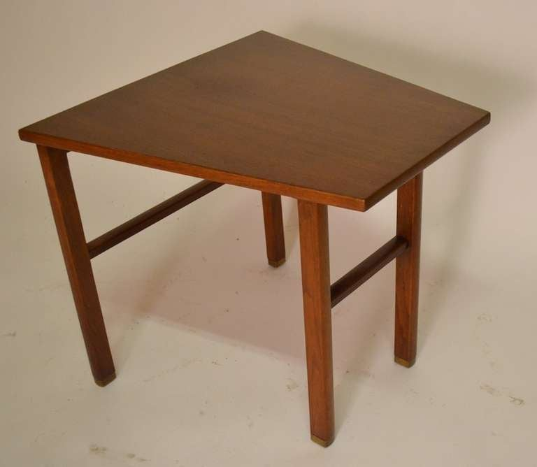 Trapezoidal dunbar end table by wormley at 1stdibs for Trapazoid table
