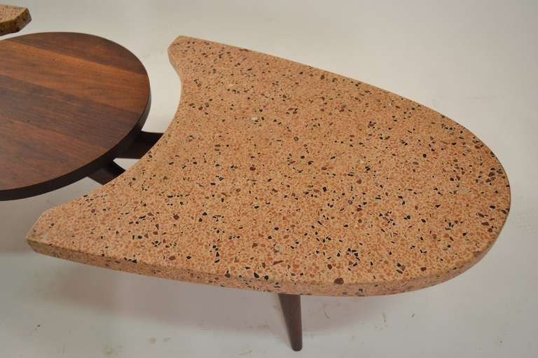 Mid Century Modern Harvey Probber Terrazzo Top Coffee Table For Sale