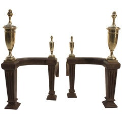 Pair Classical Chenets Andirons