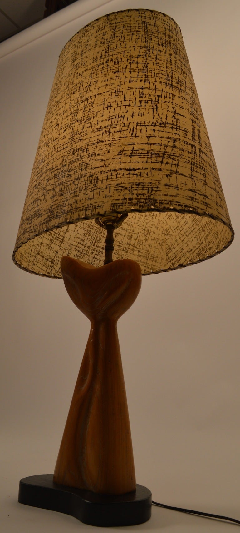 Cerused Oak Table Lamp Attributed to Heifetz In Excellent Condition For Sale In New York, NY
