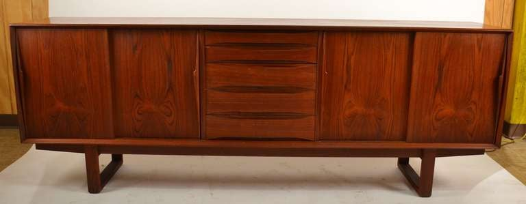 Extra Long Danish Modern Teak Credenza Server 5