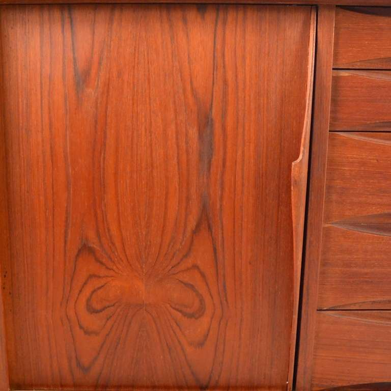 Extra Long Danish Modern Teak Credenza Server 3