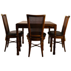 Card Table with Four Chairs By Heritage Henredon