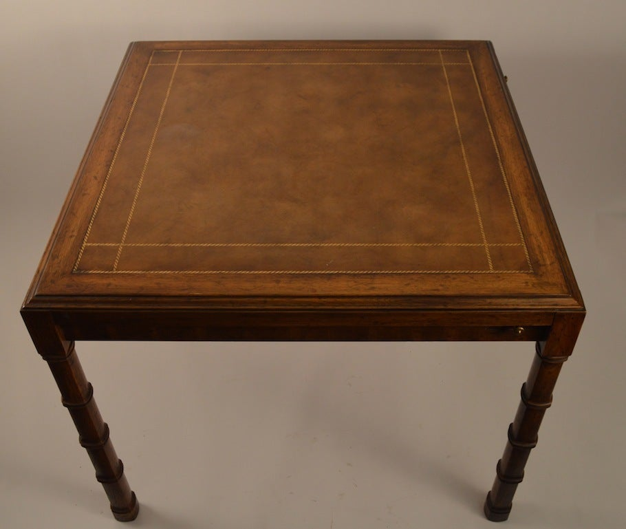 Card Table With Four Chairs By Heritage Henredon 2