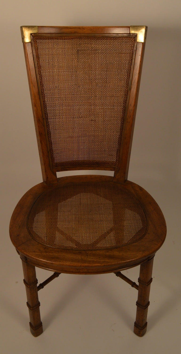 Card Table With Four Chairs By Heritage Henredon At 1stdibs