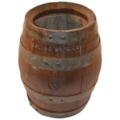 Ebling Brewing Co., Brooklyn, New York, Oak Beer Barrel