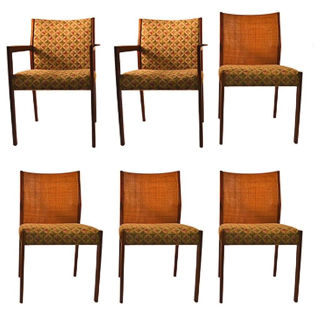Set of Six Midcentury Dining Chairs Attributed to Jens Risom