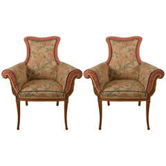 Pair of Decorative Chairs Attributed to Grosfeld House