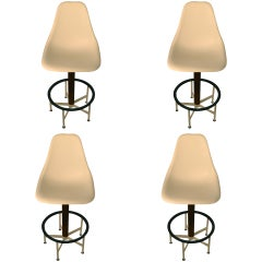 Set of Four Burke Swivel Stools