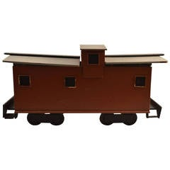 Large Folky Handmade Caboose-Form Toy Box