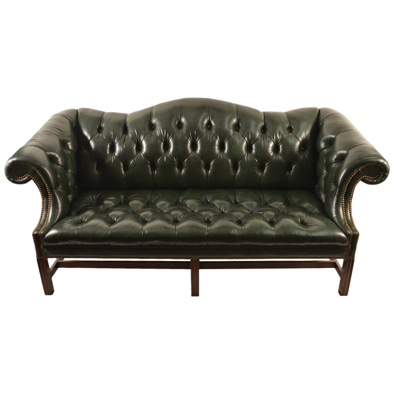 leather chesterfield sofa at 1stdibs. Black Bedroom Furniture Sets. Home Design Ideas