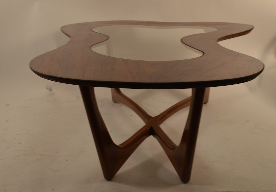 Free Form Glass Top Coffee Table At 1stdibs