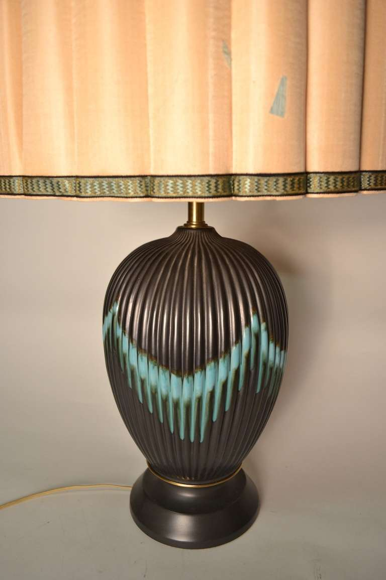 Mid-Century Modern Marbro Table Lamp with original shade For Sale