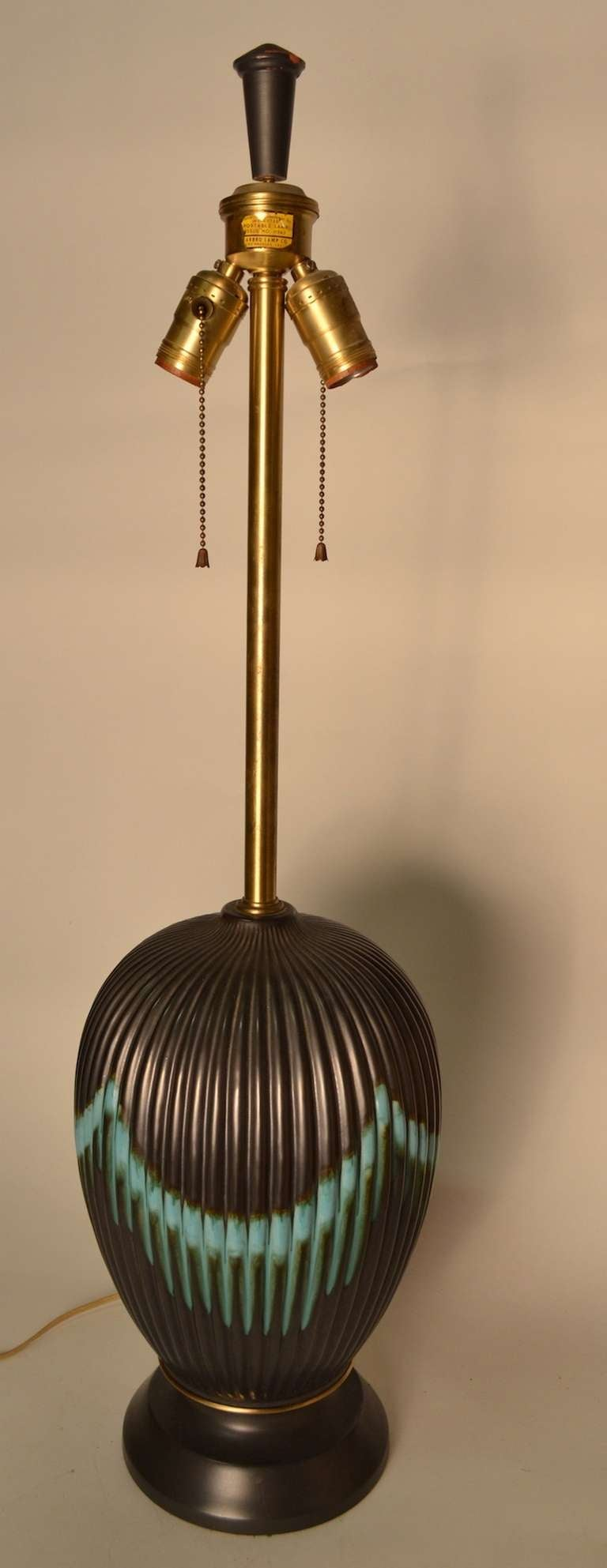 American Marbro Table Lamp with original shade For Sale