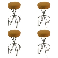 Set of Four Swivel Stools by Paul Tuttle