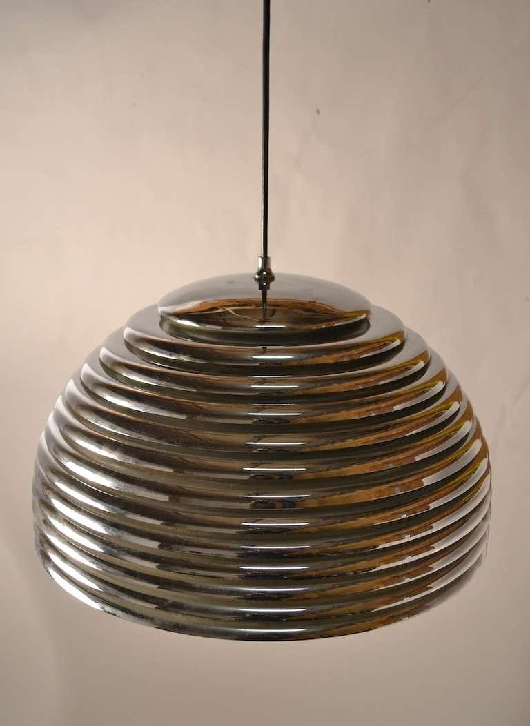 Designed by Kazuo Motozawa for Staf Germany, Ca. 1970's. Graduated Chrome