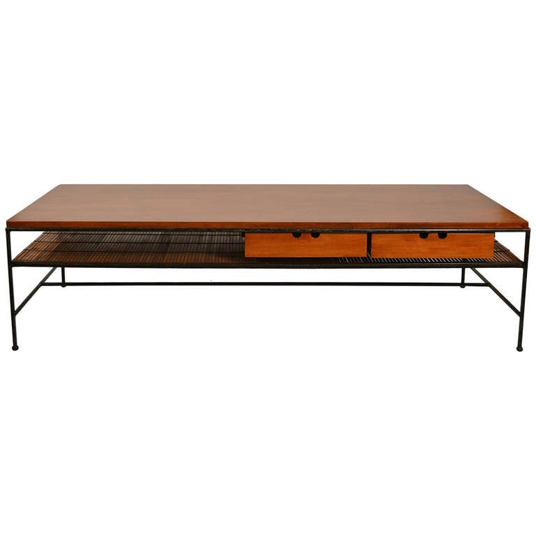 Paul McCobb Maple and Iron Coffee Table